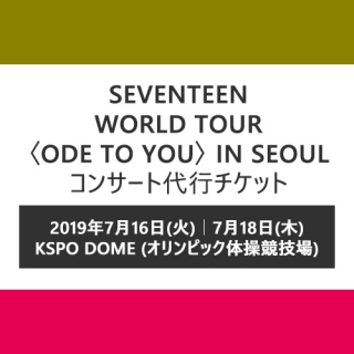 SEVENTEEN WORLD TOUR 〈ODE TO YOU〉 IN SEOUL コンサート代行チケット