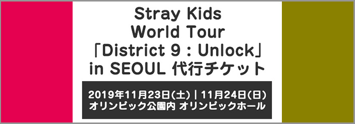 Stray Kids World Tour「District 9 : Unlock」in SEOUL 代行チケット
